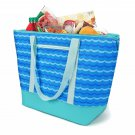 12 Gallon Insulated Mega Tote Blue Bag - The Way to Transport Frozen Food, Perishables and Hot Food