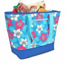 12 Gallon Insulated Flower Print Mega Tote Bag  Frozen Food and Hot Food Including 9 LED Flashlight