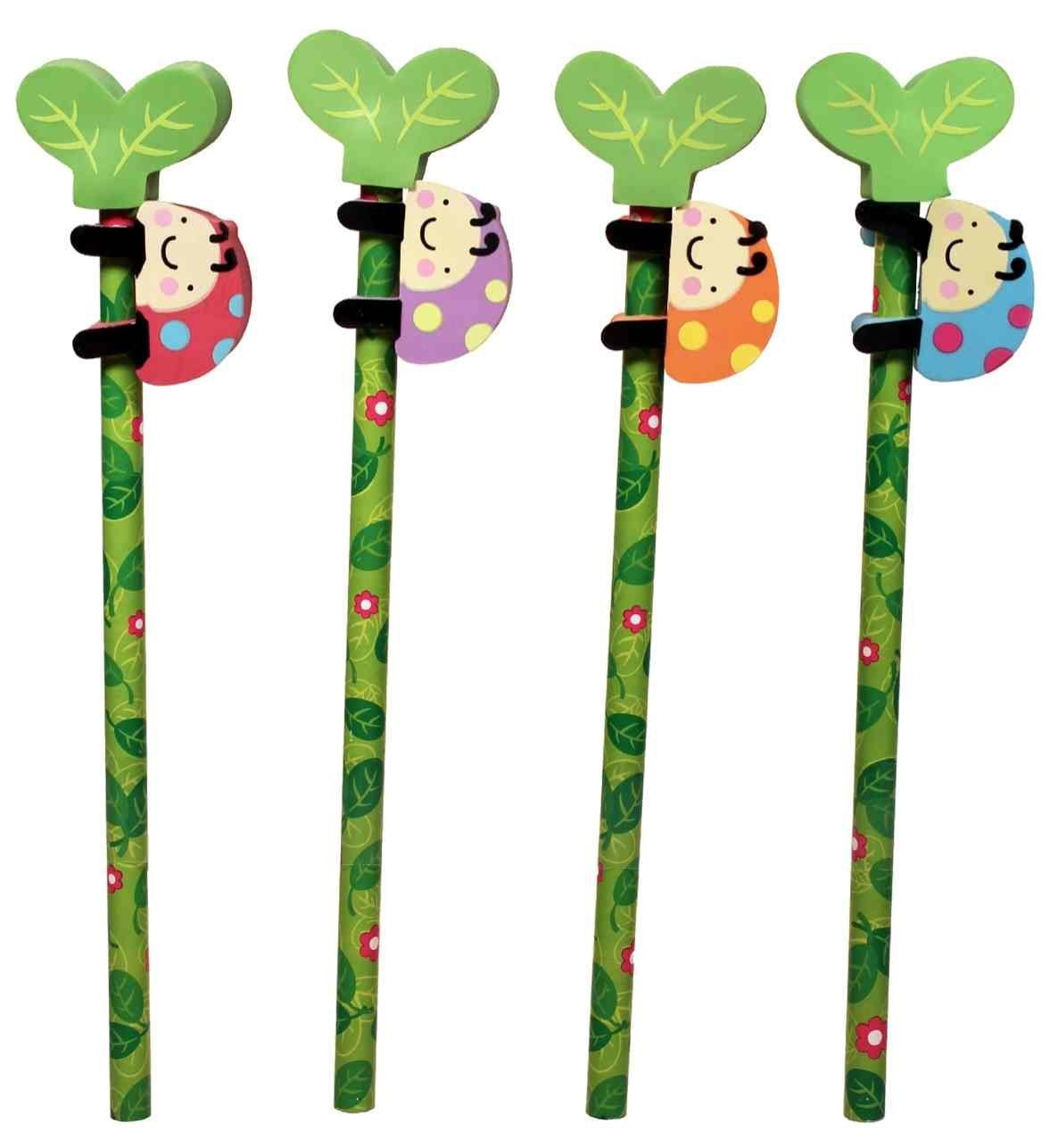 Ladybug Eraser & Pencil - Set of 4