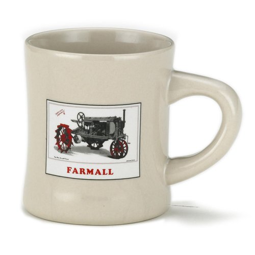 Stoneware Diner Mug by McCormick Farmall (White - Gray Tractor) by Farmall
