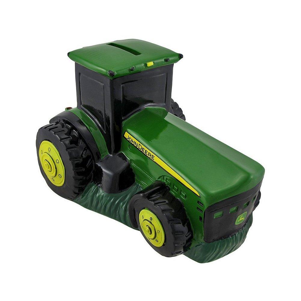 Polyresin John Deere Logo Tractor Bank