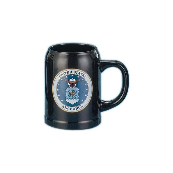 U.S. Air Force Stoneware Blue Ceramic Mug