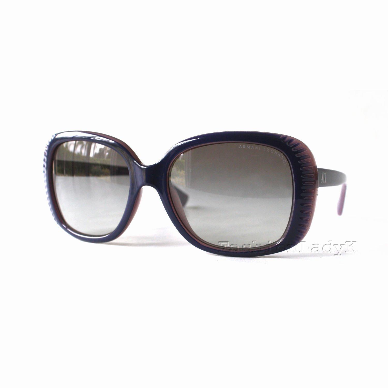 Armani Exchange Women Purple Frame Gray Lens Sunglasses AX4014 8061-11