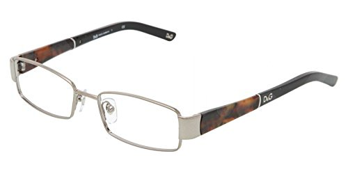Dolce & Gabbana Silver Black Brown Optical Eyeglasses Frame DD5073 441 51mm