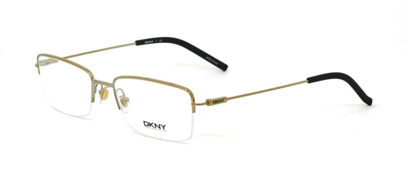 Donna Karan DKNY Gold Half Rim Optical Eyeglasses Frame DY5647 1189 53mm