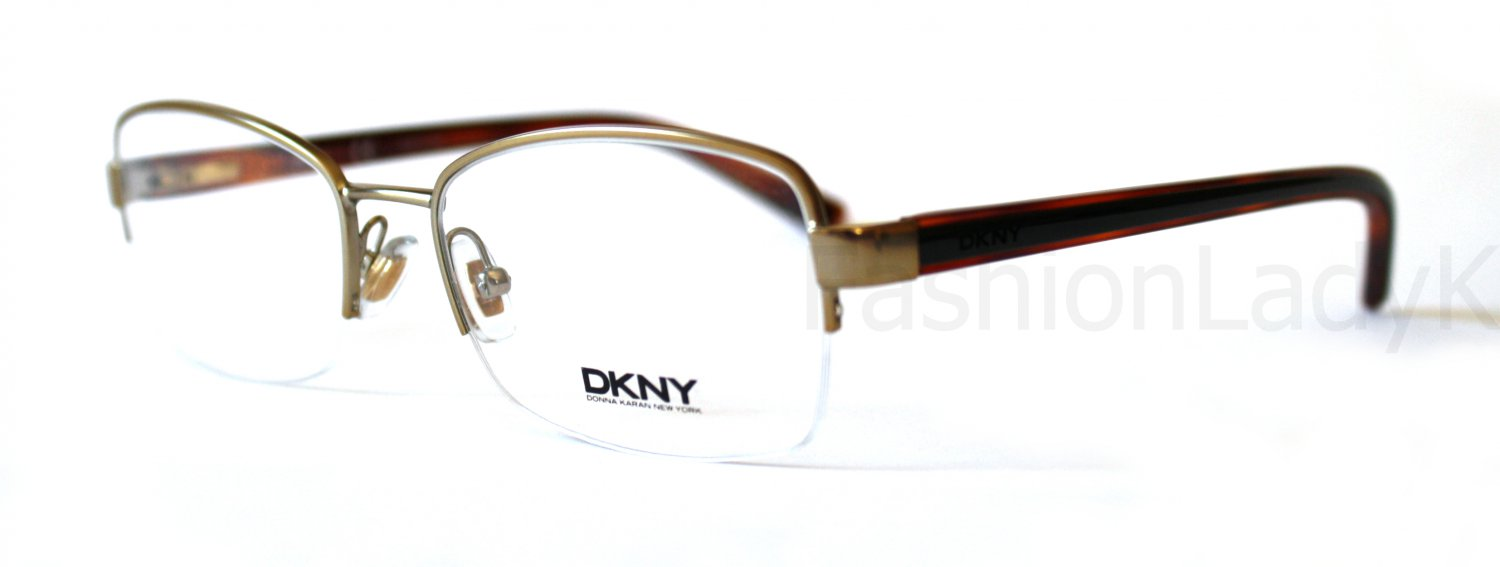 Donna Karan DKNY Gold Optical Eyeglasses Frame DY5845 1219 53mm New w/ Case