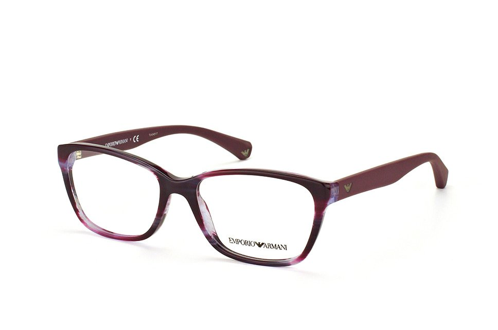 Emporio Armani Purple Optical Eyeglasses Frame EA3060 5389 54mm New w/ Case