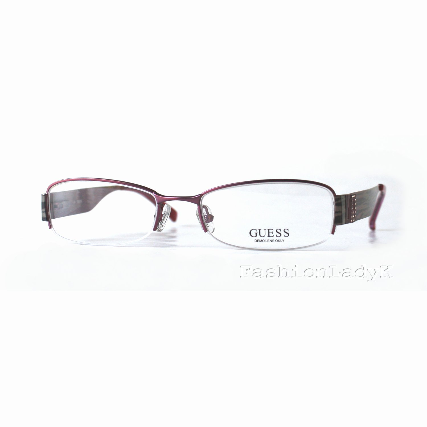 GUESS Purple Optical Eyeglasses Frame GU1584ST BER 52mm New w/ Case