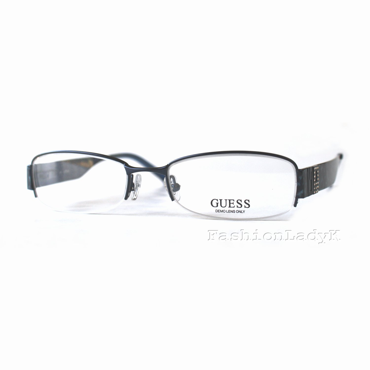 GUESS Blue Optical Eyeglasses Frame GU1584ST NV 52mm New w/ Case