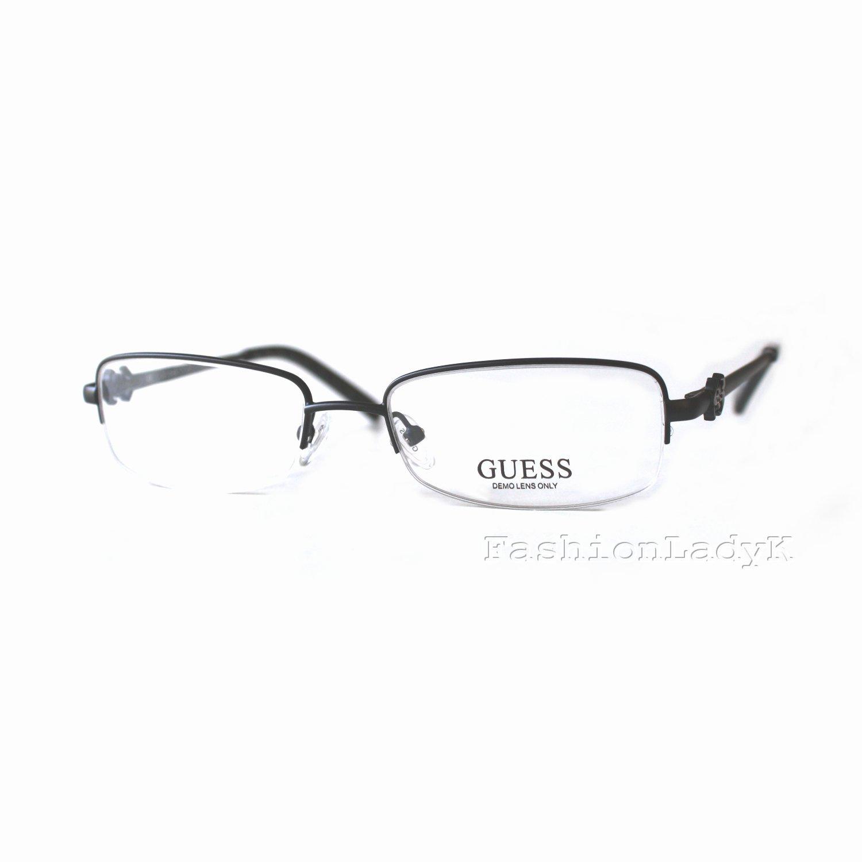 GUESS Black Optical Eyeglasses Frame GU2256 BLK 50mm New w/ Case