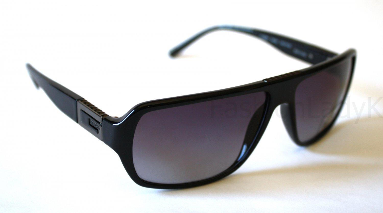 GUESS Black Frame Gray Lens Sunglasses GU6655 BLK-35 New w/ Case