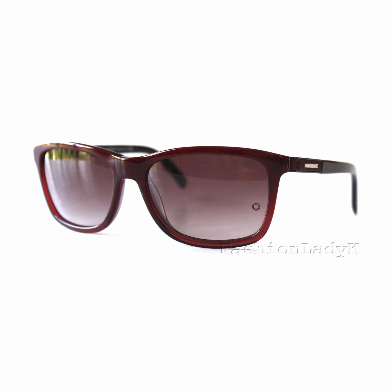 Mont Blanc Men Purple Sunglasses MB461S 69T New w/ Case