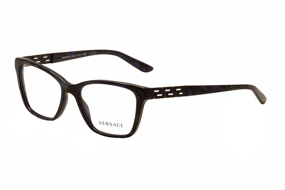 Versace Blue Optical Eyeglasses Frame MOD3192-B 5127 52mm New w/ Case