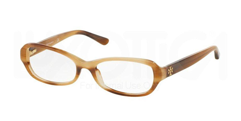 Tory Burch Brown Havana Optical Eyeglasses Frame TY2051 1416 49mm New w/ Case