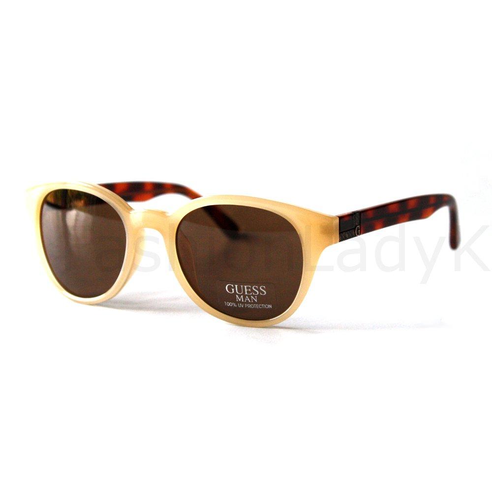 GUESS Cream Frame Brown Lens Sunglasses GU6699 CR-1 New w/ Case