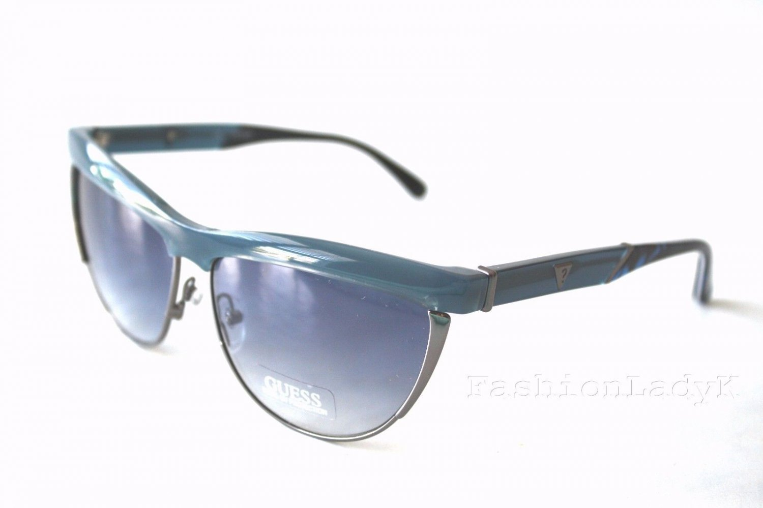 GUESS Women Blue Sunglasses GU7200 BL-72 New w/ Case