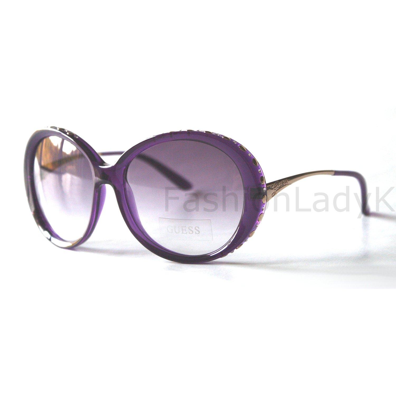 GUESS Women Purple Sunglasses GU6505 PUR-58 New w/ Case