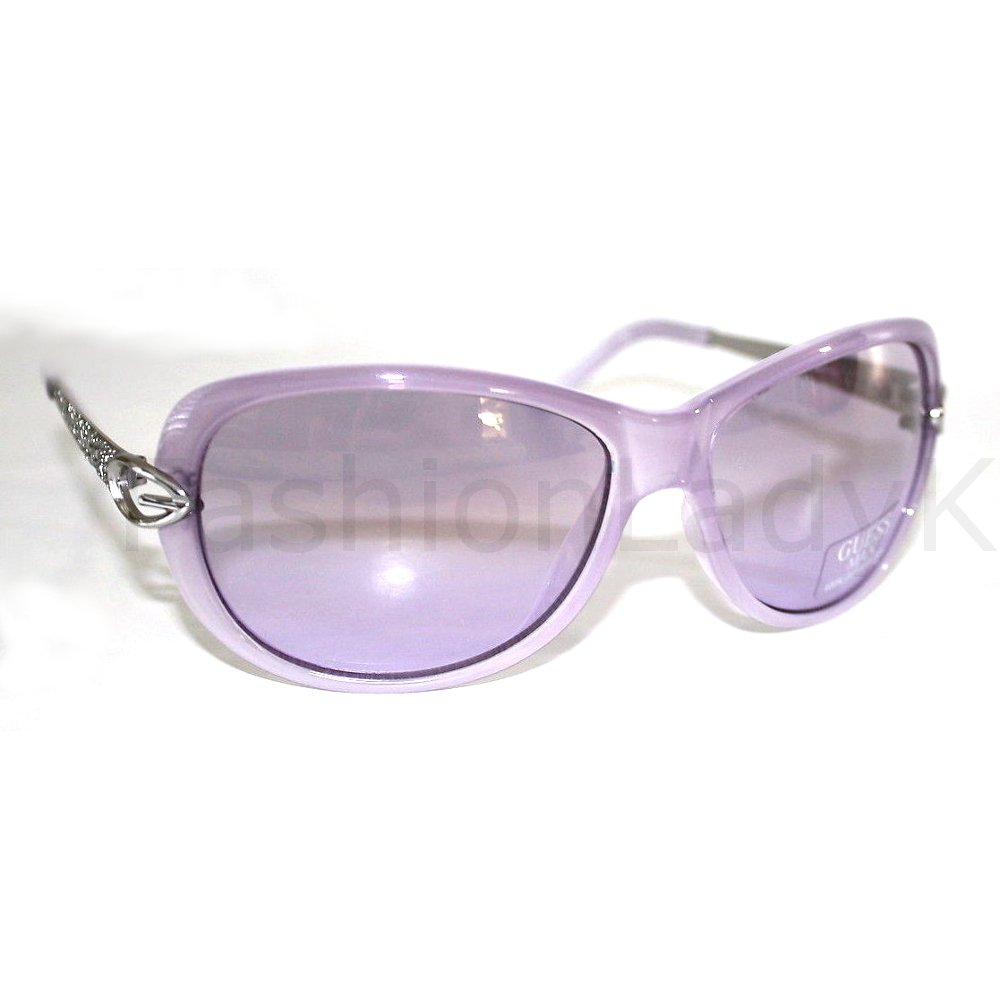 GUESS Women Purple Sunglasses GU7072 PUR-10F New w/ Case