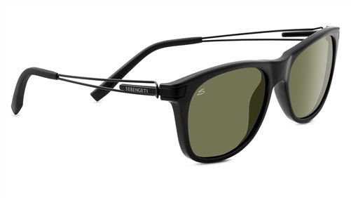 SERENGETI Black Frame Gray Lens Sunglasses PAVIA 8195 New w/ Case ITALY