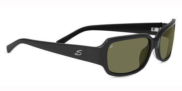 SERENGETI Women Black Frame Green Lens Sunglasses ANNALISA 7961 New w/ Case