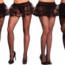 Holiday Women Costume Accessory Pantyhose Cute Sexy Black Spider Web Floral