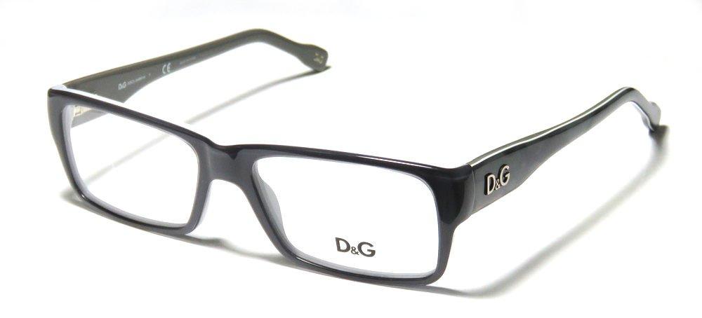 New Authentic Dolce Gabbana D&G Black Gray Optical Eyeglasses Frame D&G1210 1867