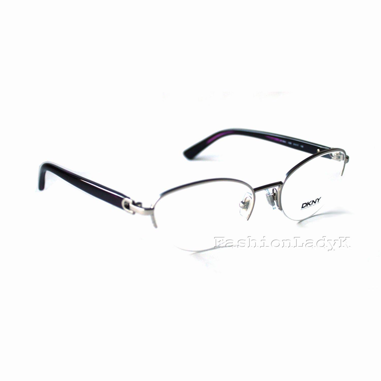 Donna Karan DKNY Silver Purple Optical Eyeglasses Frame DY5644 1029 New w/ Case