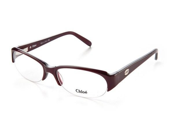 Chloe Women Purple Optical Eyeglasses Frame CL1144 C03 53mm New w/ Case FRANCE