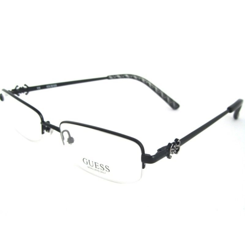 New Authentic GUESS Black Retangular Half-Rim Optical Eyeglasses Frame GU2256