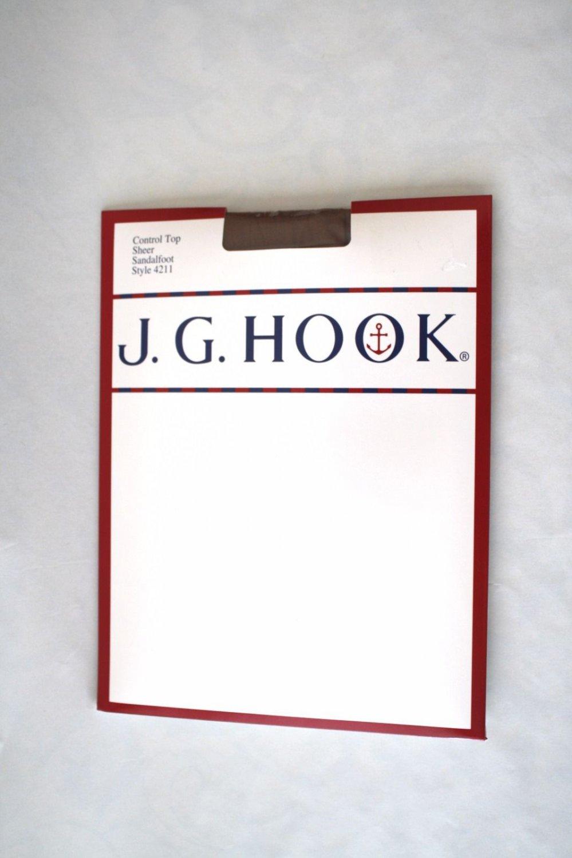 J. G. Hook Sheer Nude Control Top Slimming Tights Sandalfoot 2 pairs