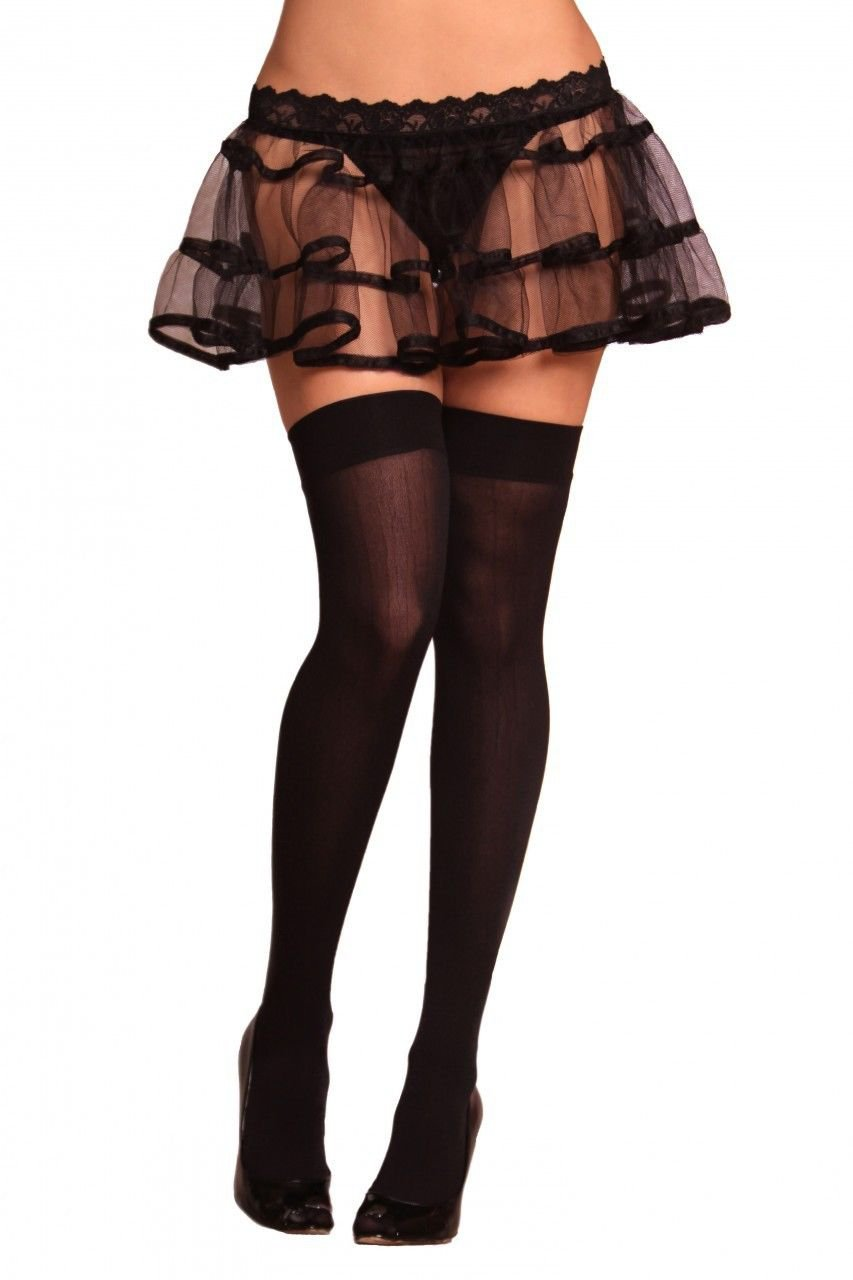 2x Lovely Day Opaque Ivy Back Thigh High Party Clubbing Intimate Costume TH1132