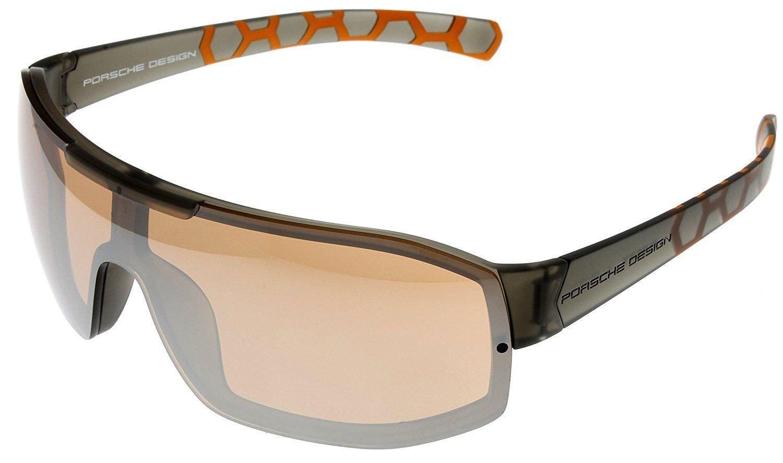 Porsche Design Gray Frame Brown Lens Sunglasses P8527 A New w/ Case ITALY