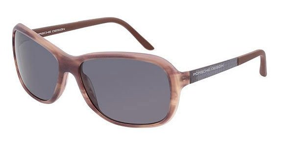 Porsche Design Brown Frame Gray Lens Sunglasses P8558 B New w/ Case ITALY
