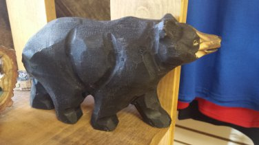 Wood craved bear figure Yellowstone
