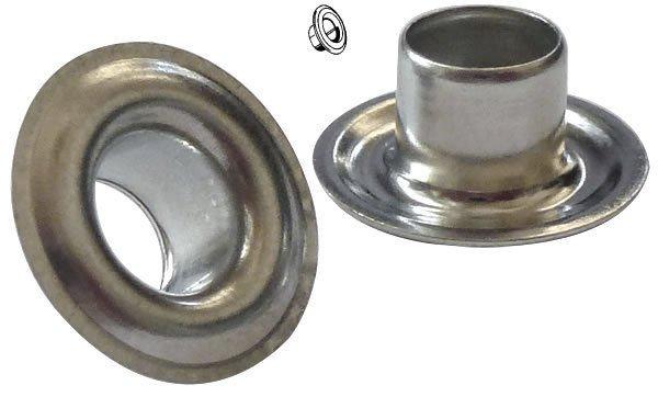 "20 Pack Metal 1/4"" Grommets For Repair of Patio Furniture Vinyl Straps"