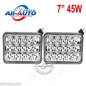 "2 pcs 7"" 45W Led Work Light 45W Led Headlights LED Sealed Beam High Low Beams"