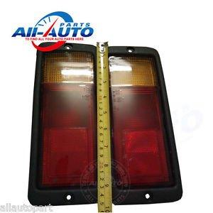2pcs Left And Right Rear Bumper Light Rear Bar Lamp Rear Fog Light  Frame