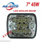"2 pcs 45W Led Driving Light 7 X 6""  LED Work Light 45W Led Sealed Beam Headlamp"