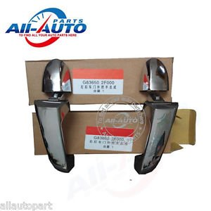 2pcs Rear Right Rear Left Chrome Exterior Rear Door Handles For Spectra cerato