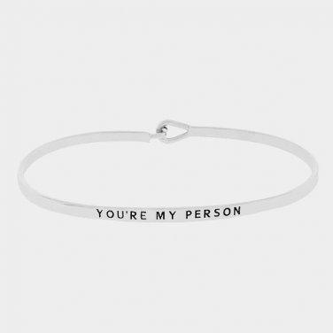 You're My Person Bracelet - silver