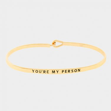 You're My Person Bracelet - gold