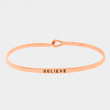 Believe Bracelet - rose gold
