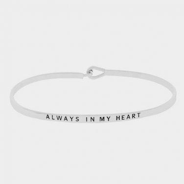 Always In My Heart Bracelet - silver