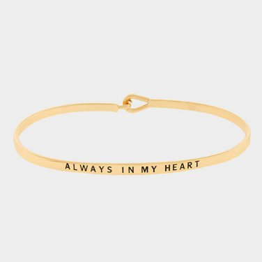 Always In My Heart Bracelet - gold