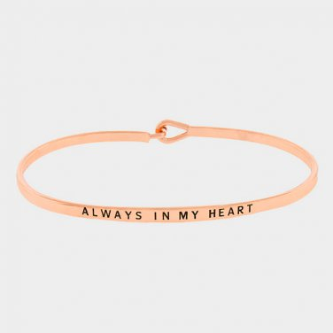 Always In My Heart Bracelet - rose gold