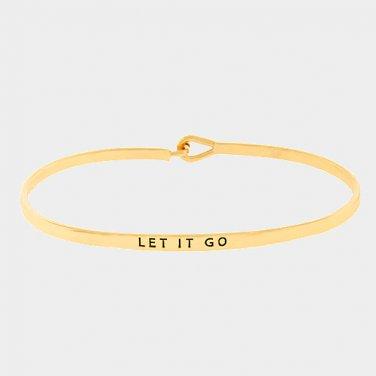Let It Go Bracelet - gold