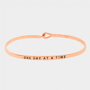 One Day At A Time Bracelet - rose gold