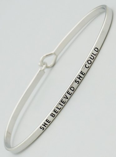 She Believed She Could Bracelet - silver