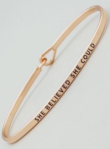 She Believed She Could Bracelet - rose gold
