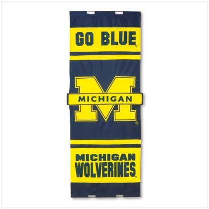 Univ of Michigan Door Flag